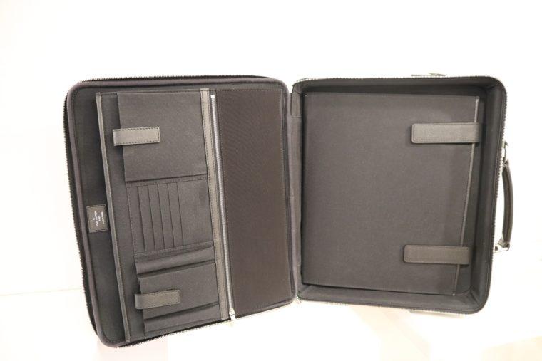 Louis Vuitton Aktentasche Sabana Taiga Leder grau schwarz-14820