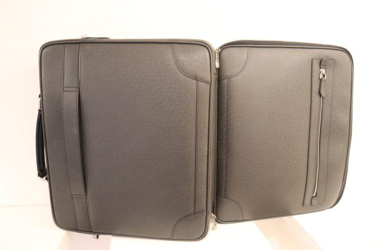 Louis Vuitton Aktentasche Sabana Taiga Leder grau schwarz-14821