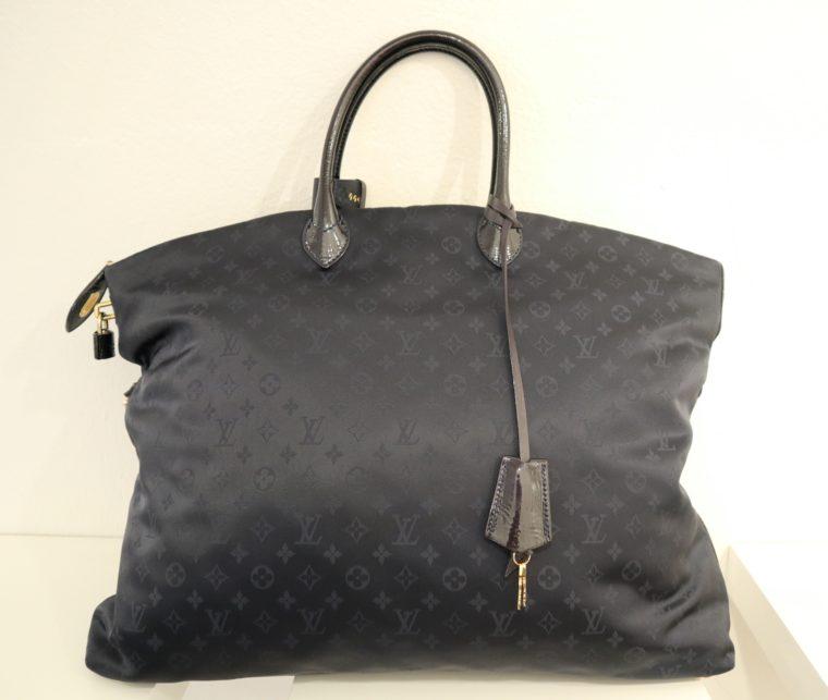 Louis Vuitton Tasche Lockit blau Satin XXL-14799
