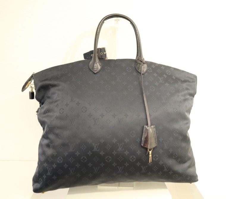 Louis Vuitton Tasche Lockit blau Satin XXL-14798