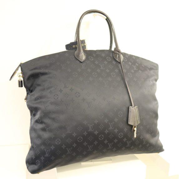 Louis Vuitton Tasche Lockit blau Satin XXL