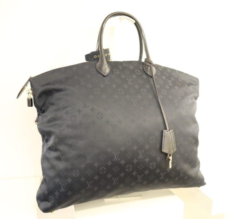 Louis Vuitton Tasche Lockit blau Satin XXL-0
