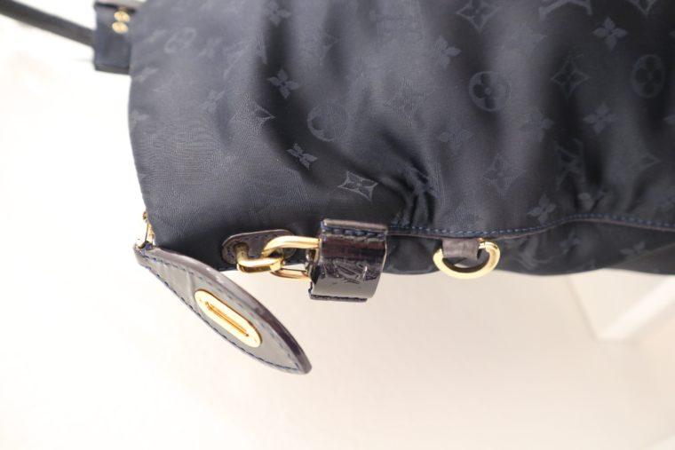 Louis Vuitton Tasche Lockit blau Satin XXL-14800