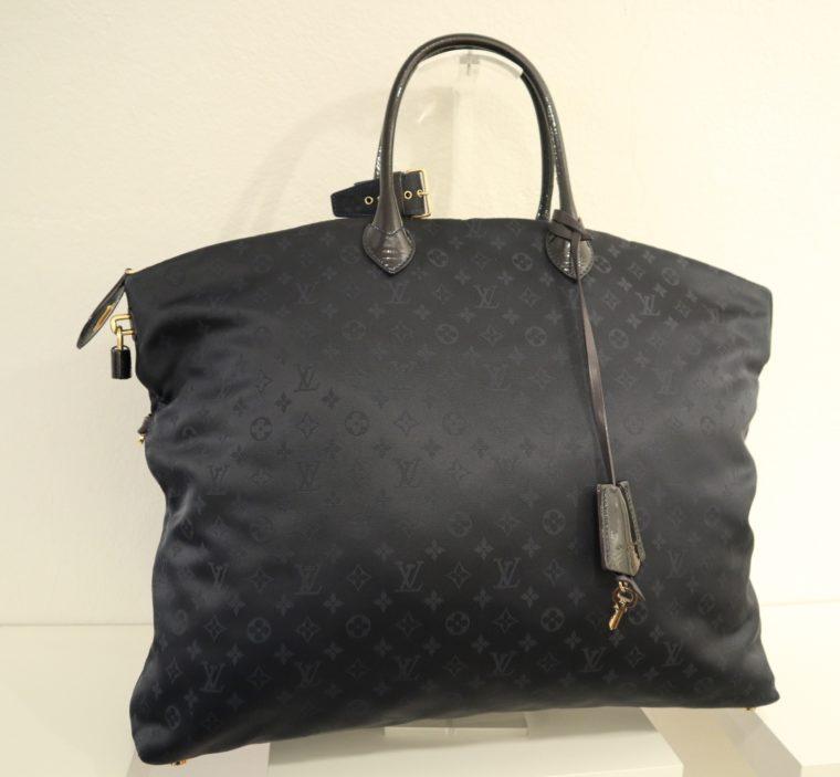 Louis Vuitton Tasche Lockit blau Satin XXL-14802