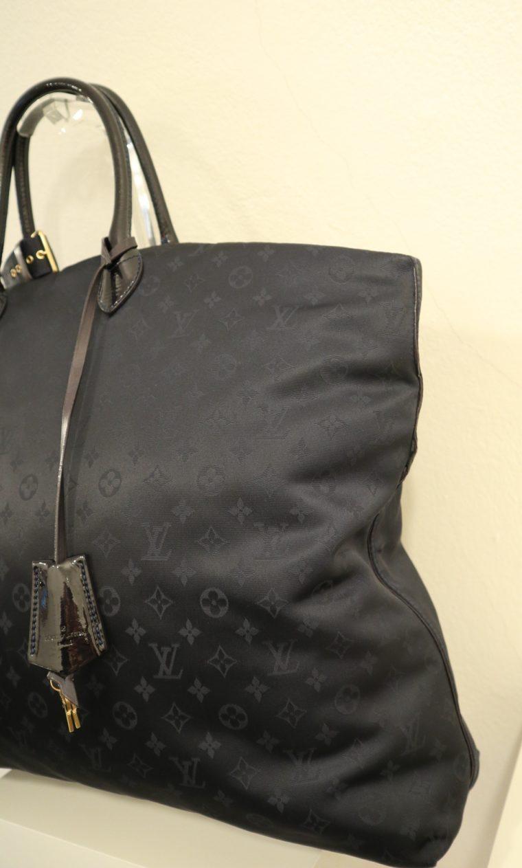 Louis Vuitton Tasche Lockit blau Satin XXL-14803
