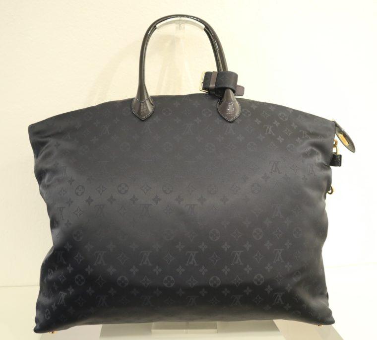 Louis Vuitton Tasche Lockit blau Satin XXL-14804