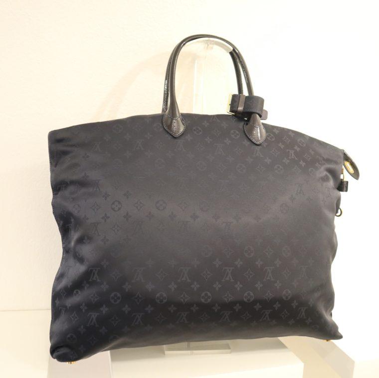 Louis Vuitton Tasche Lockit blau Satin XXL-14806