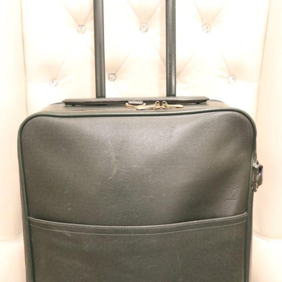 Louis Vuitton Trolley Koffer Pégase 55 Taiga Leder grün