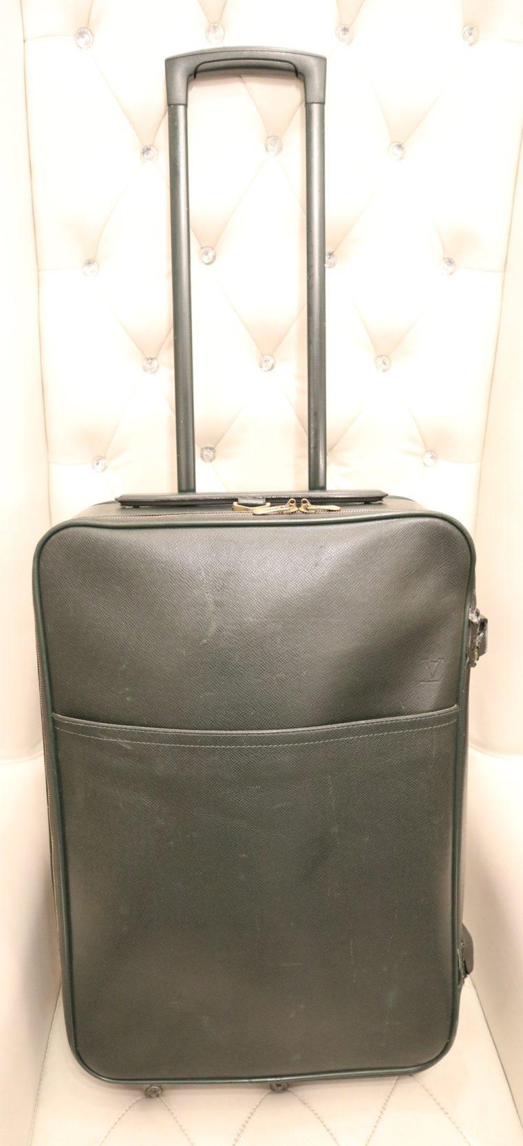 Louis Vuitton Trolley Koffer Pégase 55 Taiga Leder grün-0