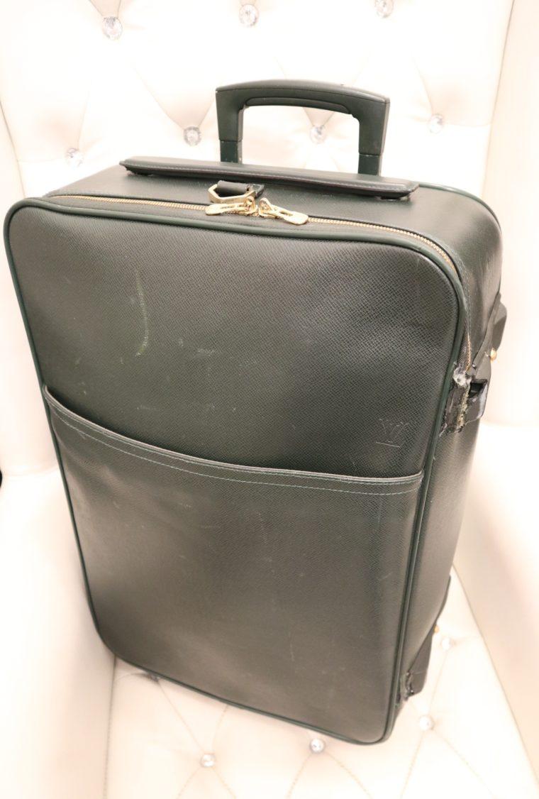 Louis Vuitton Trolley Koffer Pégase 55 Taiga Leder grün-14842