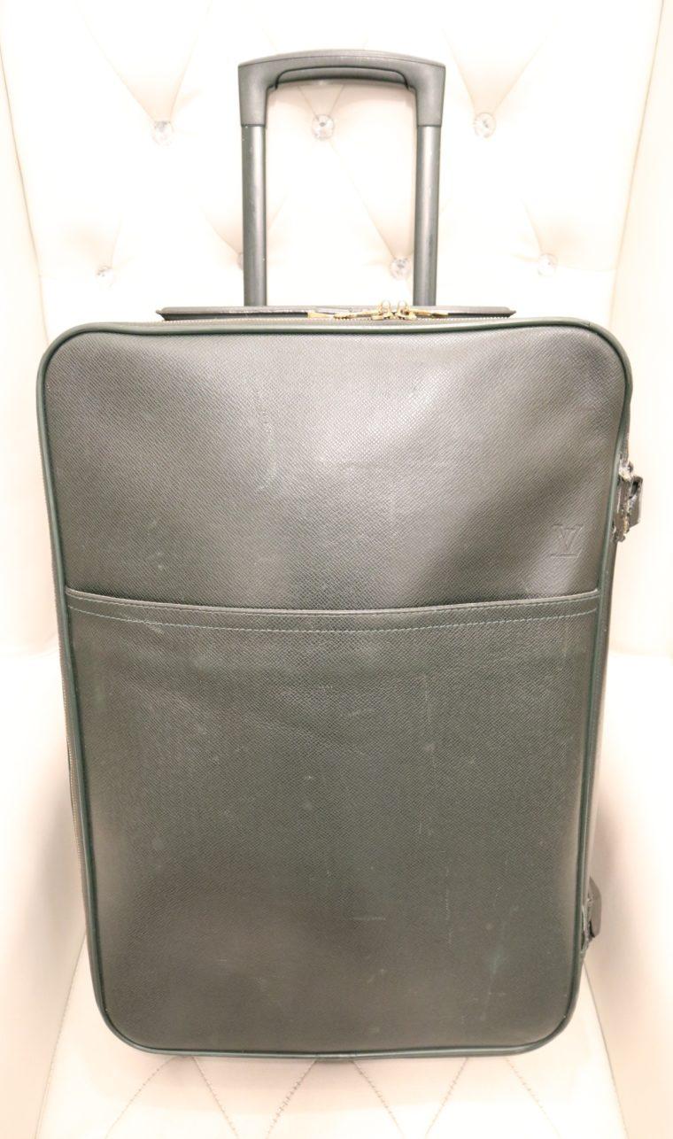 Louis Vuitton Trolley Koffer Pégase 55 Taiga Leder grün-14844