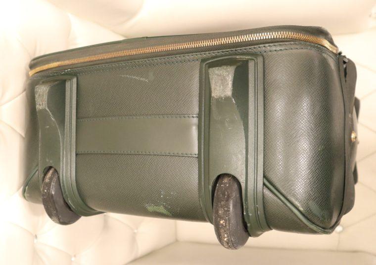 Louis Vuitton Trolley Koffer Pégase 55 Taiga Leder grün-14846