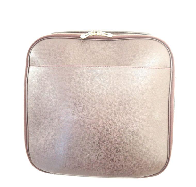 Louis Vuitton Tasche Reisetasche Porte Ordinateur Ture Taiga Leder rot-14853