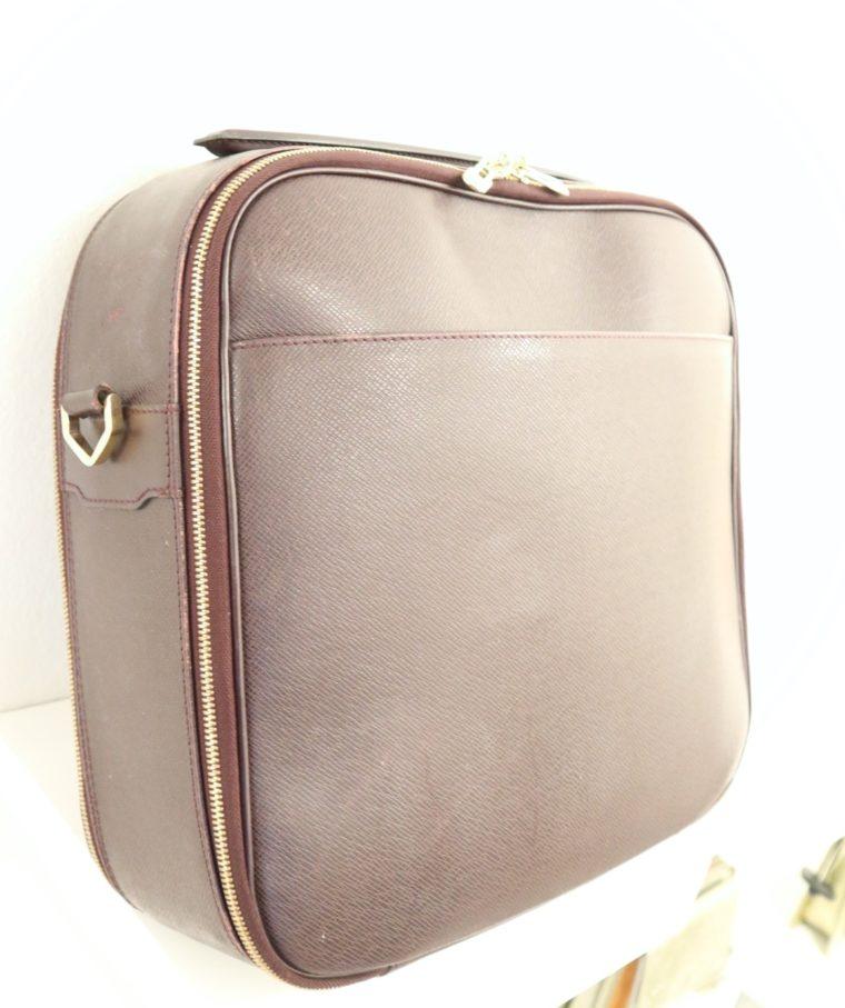 Louis Vuitton Tasche Reisetasche Porte Ordinateur Ture Taiga Leder rot-14854