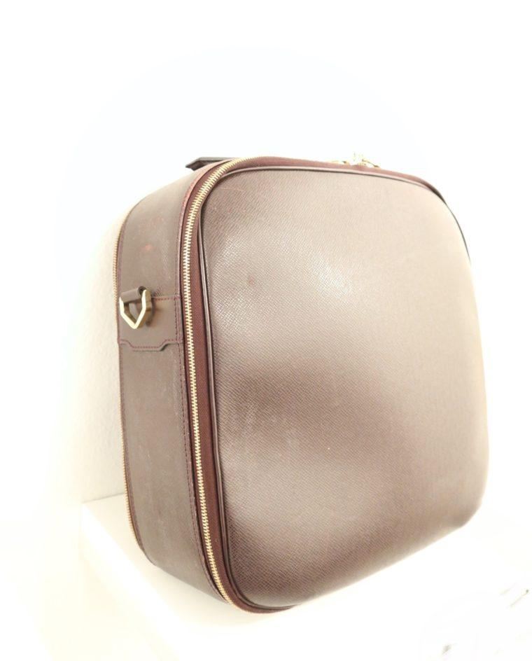 Louis Vuitton Tasche Reisetasche Porte Ordinateur Ture Taiga Leder rot-0