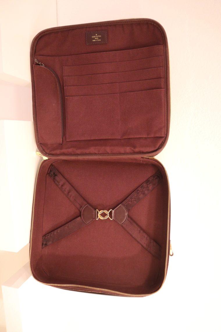 Louis Vuitton Tasche Reisetasche Porte Ordinateur Ture Taiga Leder rot-14869