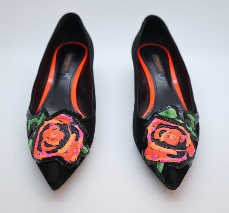 Louis Vuitton Pumps schwarz Rose 36-14914