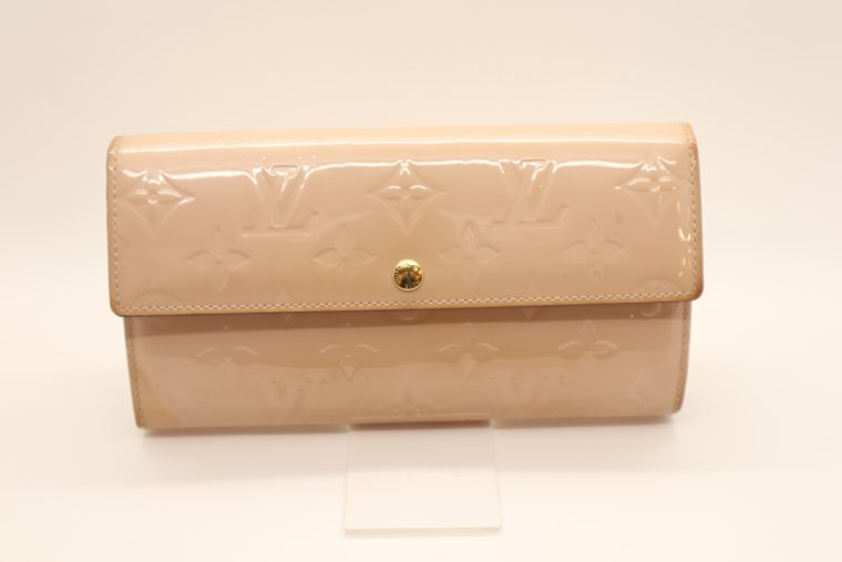 Louis Vuitton Geldbörse Sarah Vernis Leder beige -0