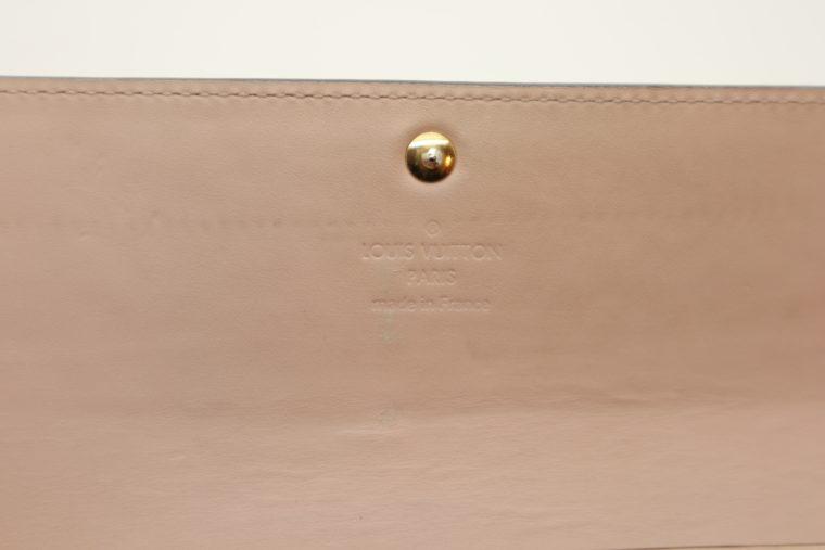 Louis Vuitton Geldbörse Sarah Vernis Leder beige -15022