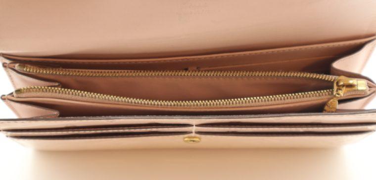 Louis Vuitton Geldbörse Sarah Vernis Leder beige -15024