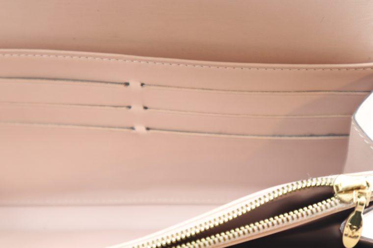 Louis Vuitton Geldbörse Sarah Vernis Leder beige -15026