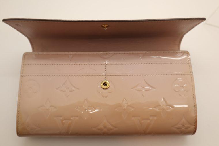 Louis Vuitton Geldbörse Sarah Vernis Leder beige -15025