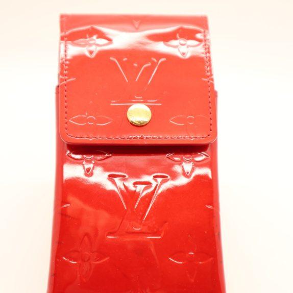 Louis Vuitton Handyetui Greene Vernis Leder rot