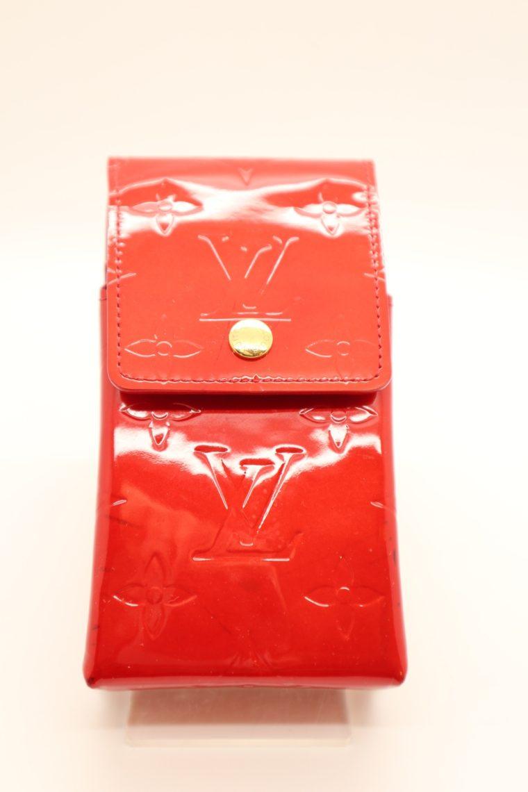 Louis Vuitton Handyetui Greene Vernis Leder rot-0