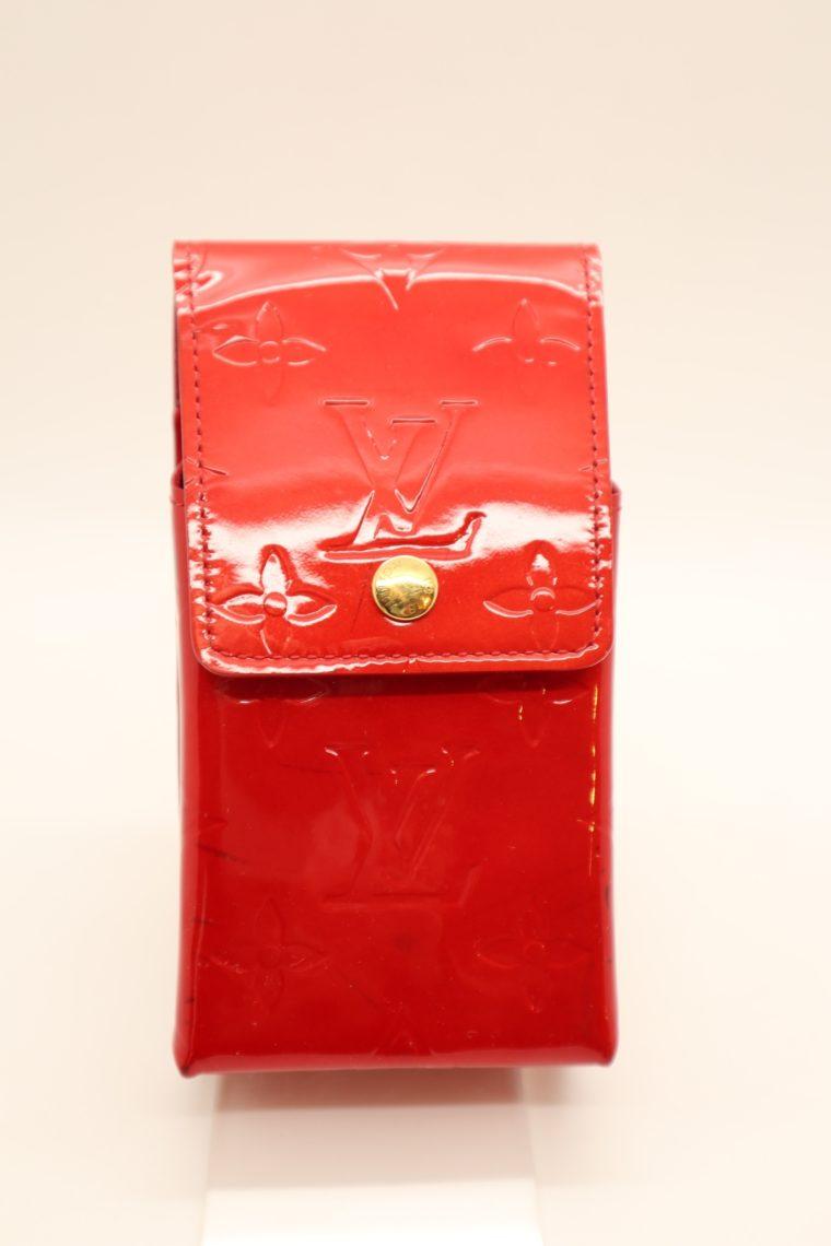 Louis Vuitton Handyetui Greene Vernis Leder rot-14949