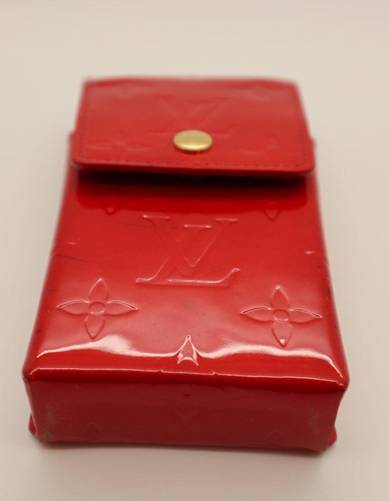 Louis Vuitton Handyetui Greene Vernis Leder rot-14942