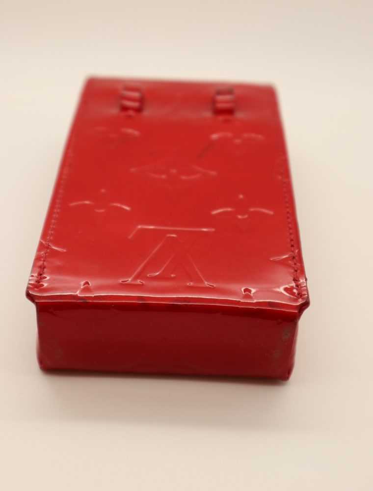 Louis Vuitton Handyetui Greene Vernis Leder rot-14943