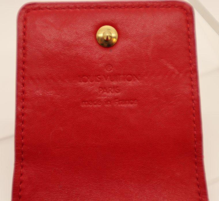 Louis Vuitton Handyetui Greene Vernis Leder rot-14944