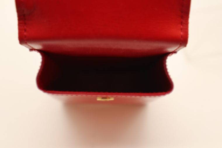 Louis Vuitton Handyetui Greene Vernis Leder rot-14945