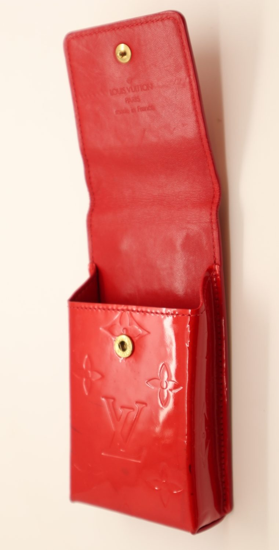 Louis Vuitton Handyetui Greene Vernis Leder rot-14947