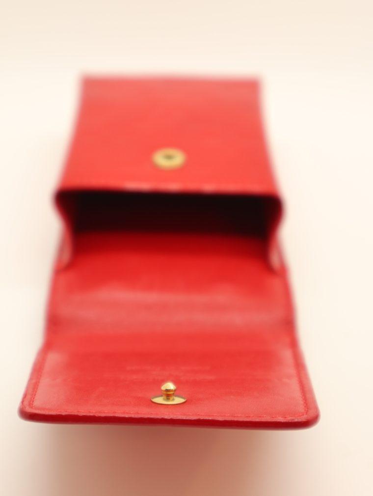 Louis Vuitton Handyetui Greene Vernis Leder rot-14948