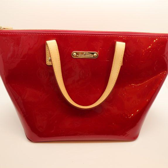 Louis Vuitton Tasche Bellevue Vernis Leder rot