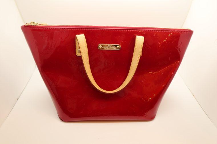Louis Vuitton Tasche Bellevue Vernis Leder rot-0