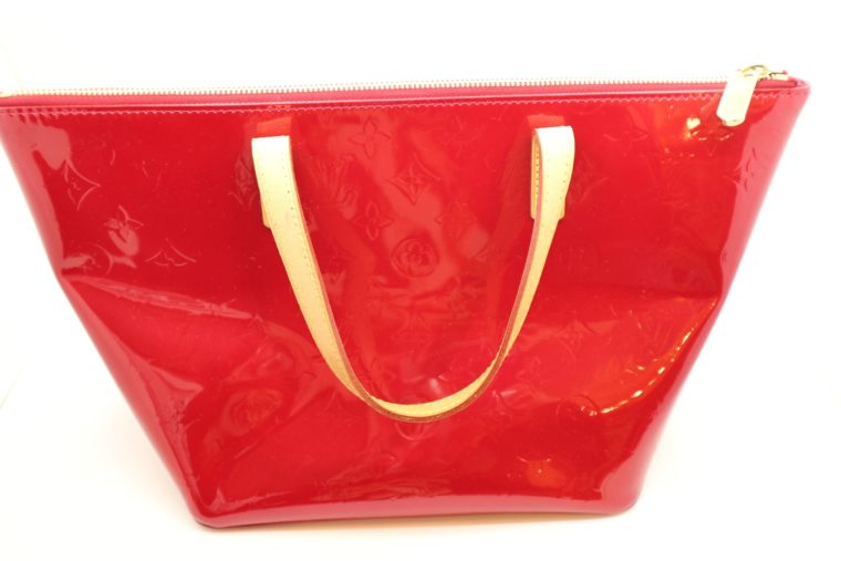 Louis Vuitton Tasche Bellevue Vernis Leder rot-14965