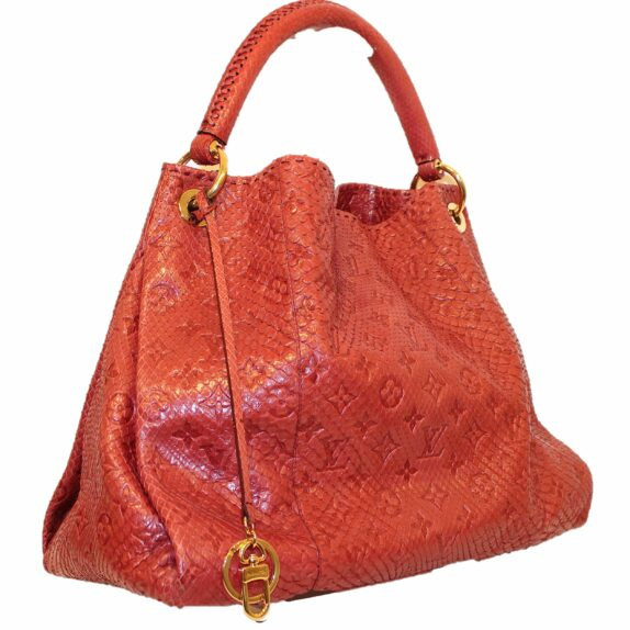 Louis Vuitton Tasche Artsy Python Leder rot