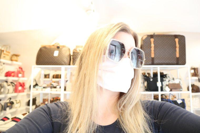 100 Stück Mund & Nasen Masken weiß bedruckbar wiederverwendbar waschbar-15121
