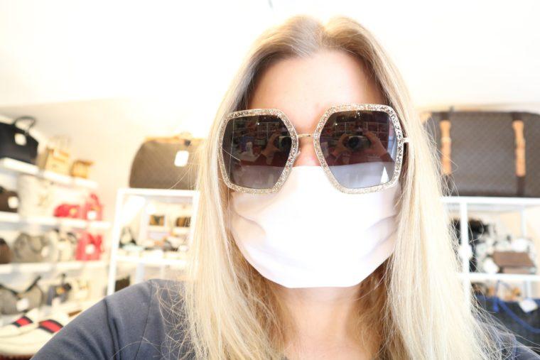 50 Stück Mund & Nasen Masken weiß bedruckbar wiederverwendbar waschbar-0