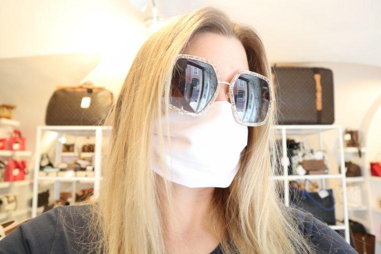 50 Stück Mund & Nasen Masken weiß bedruckbar wiederverwendbar waschbar-15097
