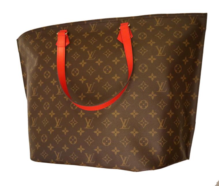 Louis Vuitton Tasche Reisetasche All in MM Monogram Canvas rot-0