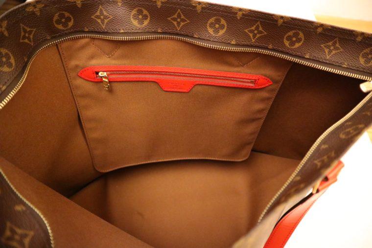 Louis Vuitton Tasche Reisetasche All in MM Monogram Canvas rot-15383
