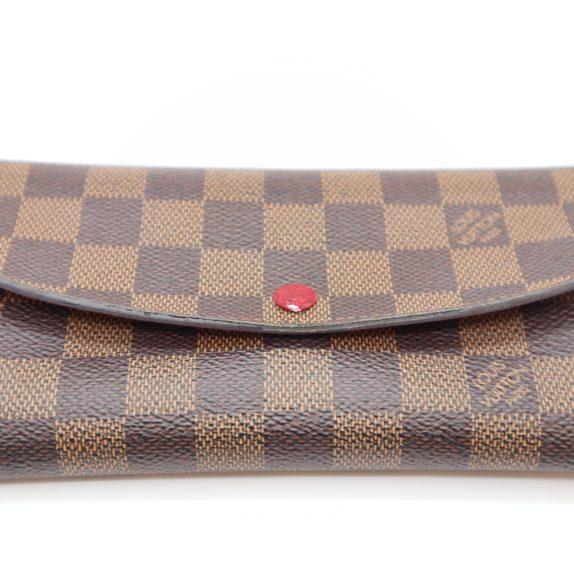 Louis Vuitton Geldbörse Emilie Monogram Canvas rot