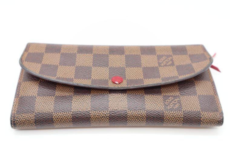 Louis Vuitton Geldbörse Emilie Monogram Canvas rot-0