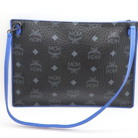 MCM Tasche Pochette schwarz blau