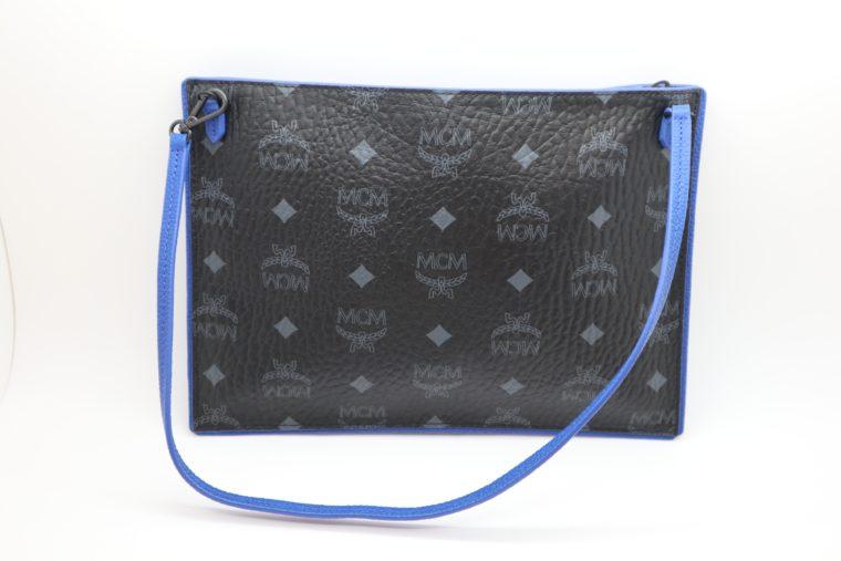 MCM Tasche Pochette schwarz blau-0