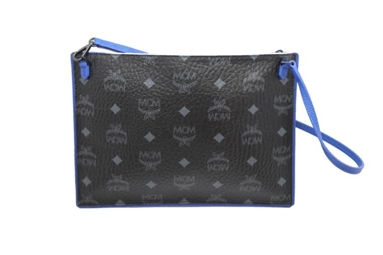 MCM Tasche Pochette schwarz blau-15340