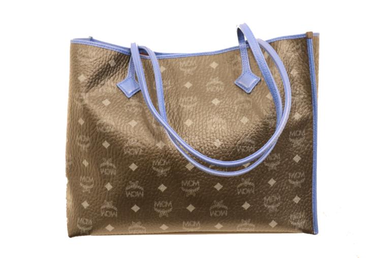 MCM Tasche Kira visetos Shopper schwarz blau-15330
